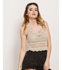 top beige tejido crochet lp10-14