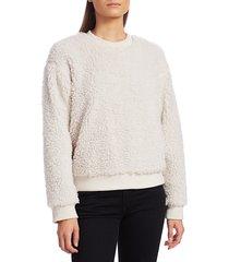 rta women's emma fleece pullover - white - size m