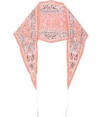 acne studios paisley-print diamond-shaped bandana - pink