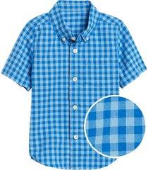 camisa manga corta azul gap