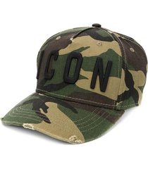 dsquared2 icon green camo baseball cap