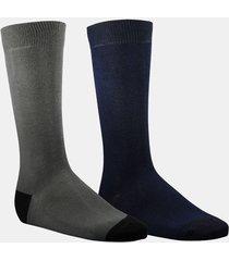 calcetin bipack negro/gris fagus