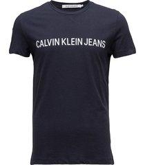 core institutional l t-shirts short-sleeved blå calvin klein jeans
