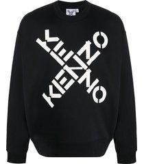 kenzo cross logo sweatshirt - black