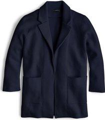 women's j.crew new lightweight sweater blazer, size x-small - blue