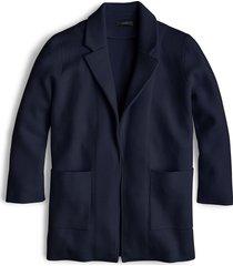 women's j.crew new lightweight sweater blazer, size large - blue