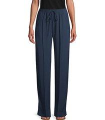 flat-front drawstring pants