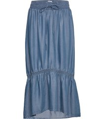 clementine tencel knälång kjol blå line of oslo