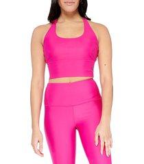 electric yoga women's basic crisscross sports bra - hot pink - size xs