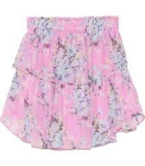 ruffle mini skirt in neon bubbles