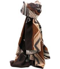 pashmina marrón leblu estampada