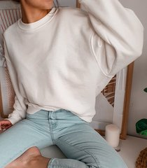 biała bluza oversize coconut