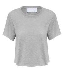 camiseta feminina soleah ld - cinza