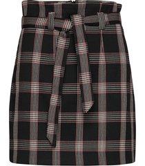 check high belted skirt kort kjol svart ivyrevel