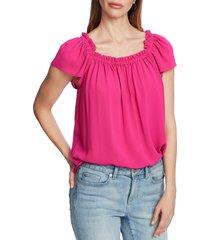 women's cece square neck blouse, size medium - pink