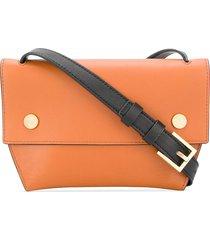 allsaints removable strap shoulder bag - brown