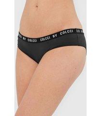 calcinha colcci underwear caleã§on lettering preta - preto - feminino - poliamida - dafiti