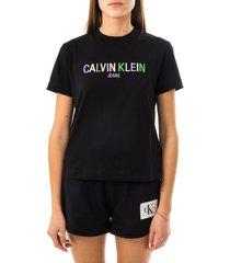 calvin klein t-shirt donna multicolored logo tee j20j215487.beh