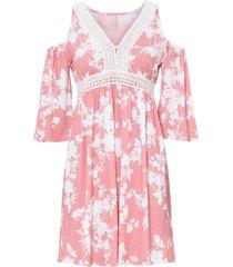 abito con cut-out e inserto di pizzo (rosa) - bodyflirt boutique