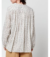 skall studio women's shiro print blouse - print - l