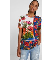 boho floral t-shirt - material finishes - m