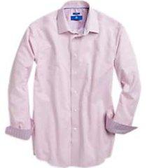 egara pink grid sport shirt