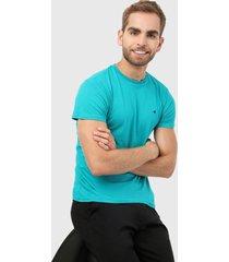 camiseta azul aguamarina-negro brooksfield