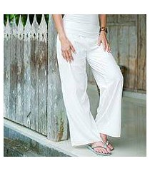 wide cotton pants, 'feminine grace' (indonesia)