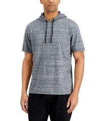 sun + stone men's heathered short-sleeve hoodie, created for macy's