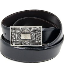 reversible logo leather belt