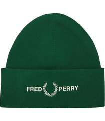 fred perry authentic graphic beanie |ivy| c7141-426