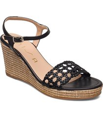 lobi_21_na sandalette med klack espadrilles svart unisa