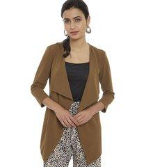 cardigan privilege marrón - calce regular