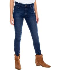 medium waist skinny jeans tono oscuro eco recycle color blue