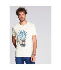 camiseta docthos estampa abacaxi sunset slim camiseta docthos estampa abacaxi sunset slim 102 amarelo claro eg
