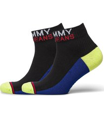 th unisex tommy jeans quarter 2p lingerie socks regular socks svart tommy hilfiger