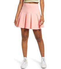 bp. knit tennis skirt, size x-small in pink pudding at nordstrom