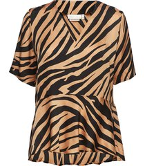 iw50 22 turlingtoniw top blouses short-sleeved bruin inwear