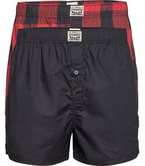 levis men premium buffalo check wov shorts chinos shorts röd levi´s