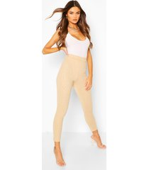 embossed animal legging, camel