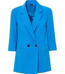 blazer con maniche a 3/4 (blu) - bodyflirt