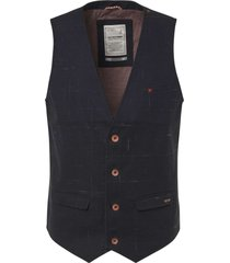 no excess gilet, yd check stretch, fully prin black