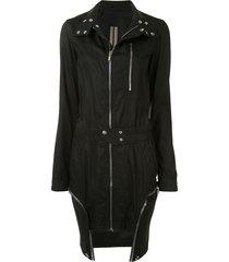 rick owens drkshdw tecuatl zip-up dress - black