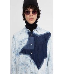 100% cotton denim shirt - blue - xxl