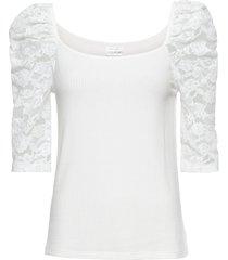 maglia con maniche in pizzo (bianco) - bodyflirt