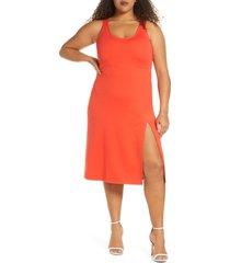 plus size women's leith scoop neck midi dress