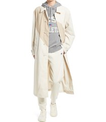 boss x russell athletics dervinra trench coat, size 40 - beige
