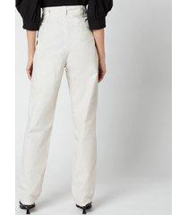isabel marant women's kilandy trousers - chalk - fr 38/uk 10