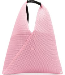 mm6 maison margiela mesh effect tote bag - pink
