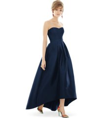 alfred sung strapless high-low maxi dress